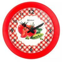 Relógio parede herweg 6647 269 cozinha vermelho 21cm -
