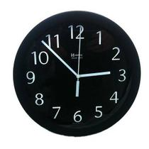 Relógio Parede Herweg 6718 034 Aluminio Preto 24,5cm -