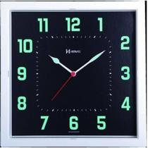 Relógio Parede Herweg Quadrado Fluorescente Verde 660036-196 -