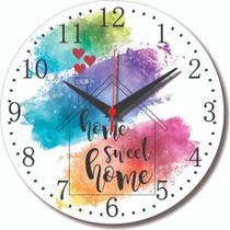 Relógio Parede Home Sweet Casa Doce Lar Cozinha Feliz 30cm - Relógil