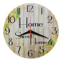 Relógio Parede Home Sweet Casa Doce Lar Feliz Cozinha 30cm - Relógil