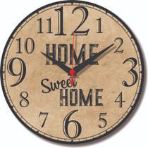 Relógio Parede Home Sweet Casa Feliz Doce Lar Cozinha 30cm - Relógil
