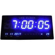 Relógio Parede Led 46cm Grande Painel Digital Termômetro Decoração Casa Sala Escritório Cozinha Quarto -