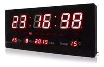 Relógio Parede Led Digital Temperatura Calendário Alarme - Luatek