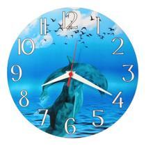 Relógio Parede Mar Golfinhos Oceano Praia Cozinha Sala 30cm - Relógil