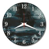 Relógio Parede Mar Navio Decoração Cozinha Pirata Barco 30cm - Relógil