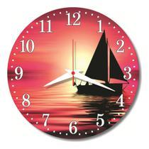 Relógio Parede Mar Navio Decoração Cozinha Vela Barco 30cm - Relógil