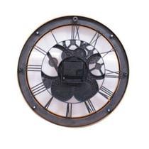 Relógio Parede Mecânica Bronze 30cm X 30cm Numeros Romanos - Drina