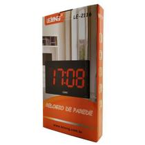 Relógio Parede Mesa Led Digital LE-2116 Lelong Temperatura Calendário Alarme -