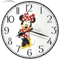 Relógio Parede Minnie Mouse Cozinha Decoração Branco Desenho Animado Infantil 30cm - Relógil