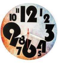 Relógio Parede Número Grande Colorido Cozinha Barato 30cm - Relógil