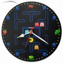 Relógio Parede Pac Man Vídeo Game Jogo Nintendo Nerd  30cm - Relógil