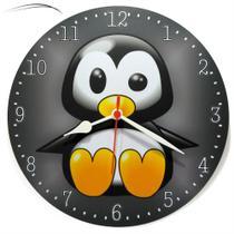 Relógio Parede Pinguim Cozinha Sala Decoração Presente 30cm - Relógil