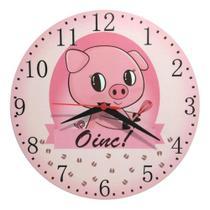 Relógio Parede Porquinho Pig Porco Cozinha Chefe Rosa 30cm - Relógil