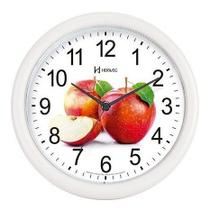 Relógio Parede Redondo Cozinha Frutas 22 cm Herweg 6105-21 -