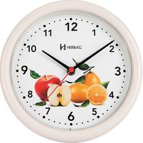 Relógio Parede Redondo Cozinha Frutas 22 cm Herweg 6105-32 -