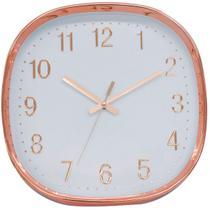 Relógio Parede Rosê 29.5x29.5cm - Tascoinport