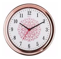 Relógio Parede Rosê 30cm Tictac Cozinha Herweg -