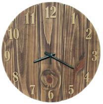Relógio Parede Rústico Madeira Decoração Verniz Vintage Grande 48cm - Relógil