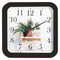 Relógio Parede Silencioso Preto Cozinha Herweg 660053-34 -