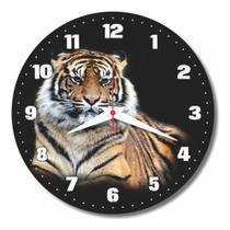 Relógio Parede Tigre Gato Decoração Cozinha Sala Animal 30cm - Relógil
