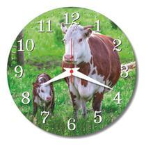 Relógio Parede Vaca Vaquinha Cozinha Sala Vintage Retrô 30cm - Relógil
