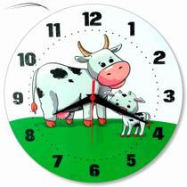 Relógio Parede Vaquinha Vaca Cozinha Sala Vintage Retrô 30cm - Relógil