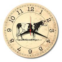 Relógio Parede Vaquinha Vaca Cozinha Vintage Retrô Sala 30cm - Relógil