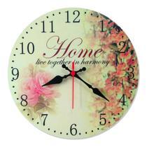 Relógio Parede Vintage Cozinha Flor Envelhecido Retrô 30cm - Relógil