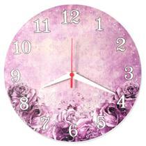 Relógio Parede Vintage Flor Cozinha Envelhecido Retrô 30cm - Relógil
