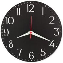 Relógio Parede Vintage Número Grande Preto Básico Casa 30cm - Relógil