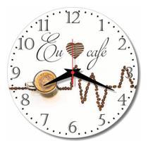 Relógio Parede Xícara Café Cozinha Coffee Decoração 30 Cm - Relógil