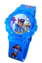 Relógio Patrulha Canina Azul Bebê Infantil com Som e Luzes - Sm
