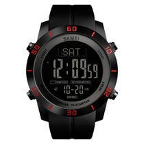 Relógio Pedômetro Bússola Masculino Skmei Digital 1354 - Preto e Vermelho -