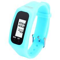 Relógio Pedômetro Contador de Passos e Calorias Azul Liveup LS3348A -