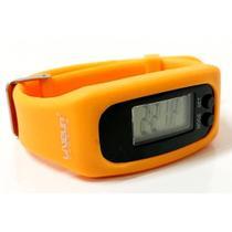 Relógio pedômetro contador de passos e calorias laranja - Liveup -