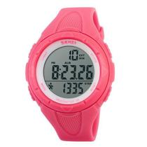 Relógio Pedômetro Feminino Skmei Digital 1108 Rosa -