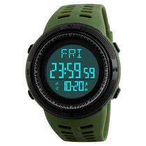 Relógio pedômetro masculino skmei digital 1058 verde - Weide