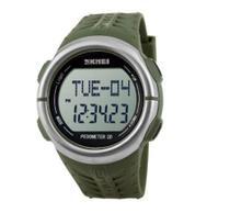 Relógio pedômetro masculino skmei digital 1058 verde -