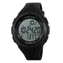 Relógio Pedômetro Masculino Skmei Digital 1108 Preto -