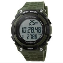 Relógio Pedômetro Masculino Skmei Digital 1112 Verde e Preto -