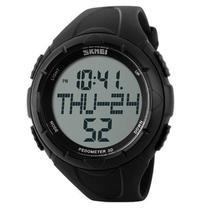 Relógio Pedômetro Masculino Skmei Digital 1122 Preto -