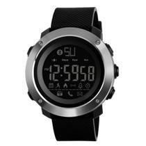 Relógio Pedômetro Masculino Skmei Digital 1287 - Preto e Prata -