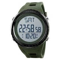 Relógio Pedômetro Masculino Skmei Digital 1288 - Verde e Prata -
