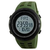 Relógio Pedômetro Masculino Skmei Digital 1295 - Verde e Preto -