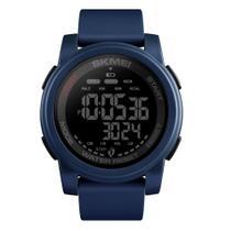 Relógio Pedômetro Masculino Skmei Digital 1469 - Azul e Preto -