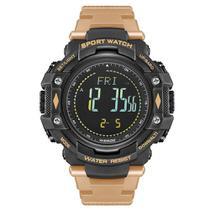 Relógio Pedômetro Masculino Weide Digital WA9J001 - Preto e Bege -