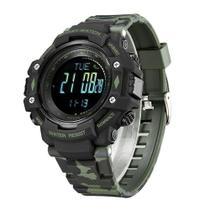 Relógio Pedômetro Masculino Weide Digital WA9J001  Verde Camuflado - Tuguir