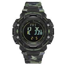 Relógio Pedômetro Masculino Weide Digital WA9J001 - Verde Camuflado -
