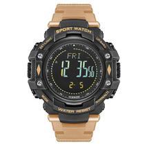 Relógio Pedômetro Weide Digital WA9J001 Masculino - Preto e Bege - Tuguir